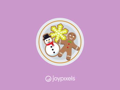 The JoyPixels Christmas Cookies Sticker - Winter Joy design glyph holiday santa bake baking cookies cookie christmas graphic emojis illustration icon emoji
