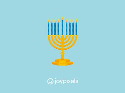 The JoyPixels Menorah Emoji Sticker - Winter Fun jewish 8 days christmas holiday hannukah menorah glyph graphic emojis character illustration icon emoji