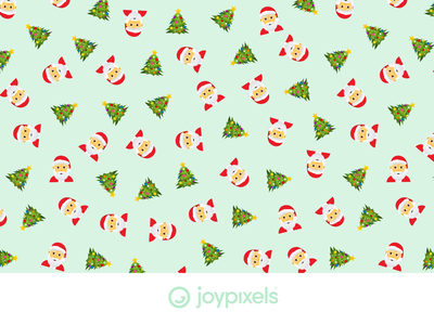 The JoyPixels Christmas Pattern - Patterns 1.0 pattern design tile background seamless holiday christmas christmas tree santaclaus santa pattern graphic emojis character icon emoji