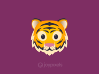 The JoyPixels Tiger Face emoji - Version 4.5
