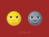 The JoyPixels New Moon Face & Full Moon Face Emojis