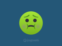 The JoyPixels Nauseated Face Emoji - Version 4.5