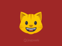 The JoyPixels Grinning Cat Emoji - Version 4.5