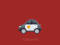 The JoyPixels Police Car Emoji - Version 4.5