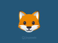 The JoyPixels Fox Face Emoji - Version 4.5
