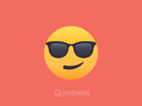 The JoyPixels Smiling Face with Sunglasses Emoji - Version 4.5