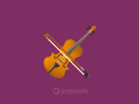 The JoyPixels Violin Emoji - Version 4.5