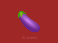 The JoyPixels Eggplant Emoji - Version 4.5