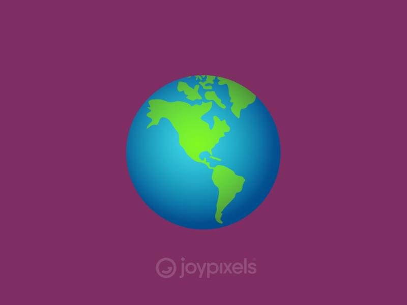 The JoyPixels Globe Emoji - Version 4.5 illustration icon character america americas world globe earth emoji