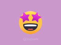 The JoyPixels Star-Struck Emoji - Version 4.5