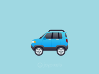 The JoyPixels Sport Utility Vehicle Emoji - Version 4.5