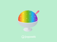 The JoyPixels Shaved Ice Emoji - Version 4.5