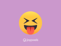 The JoyPixels Squinting Face with Tongue Emoji - Version 4.5