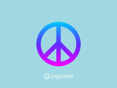 The JoyPixels Peace Sign Emoji - Version 4.5
