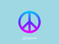 The JoyPixels Peace Sign Emoji - Version 4.5