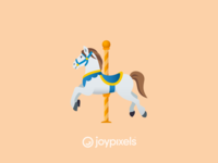 The JoyPixels Carousel Horse Emoji - Version 4.5