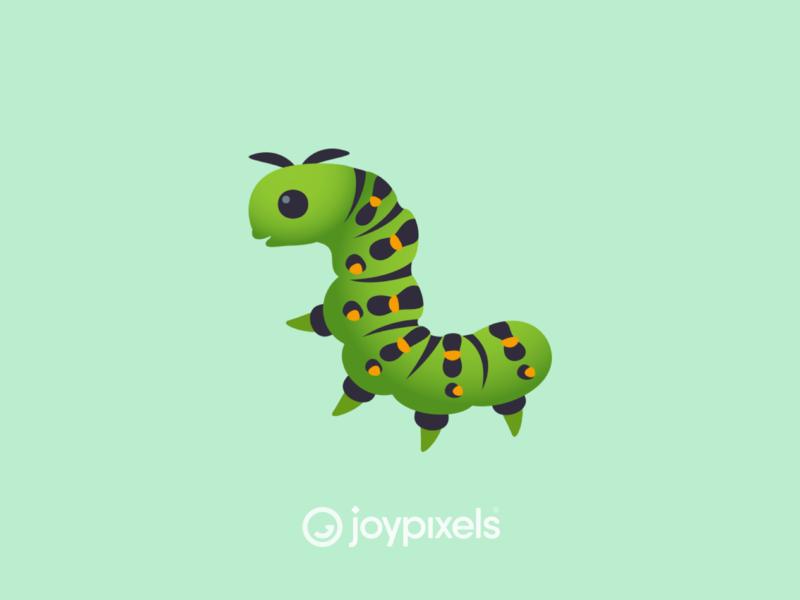 The JoyPixels Bug Emoji - Version 4.5 vector graphic glyph insect bug caterpillar design illustration character icon emoji