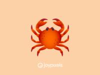 The JoyPixels Crab Emoji - Version 4.5