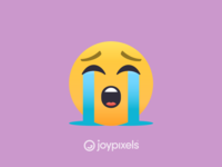 The JoyPixels Loudly Crying Face Emoji - Version 4.5
