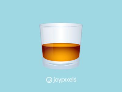 The JoyPixels Tumbler Glass Emoji - Version 5.0