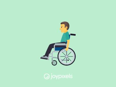 The JoyPixels Man in Manual Wheelchair Emoji - Version 5.0