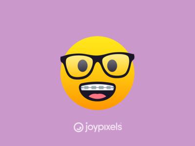 The JoyPixels Nerd Face Emoji - Version 5.0