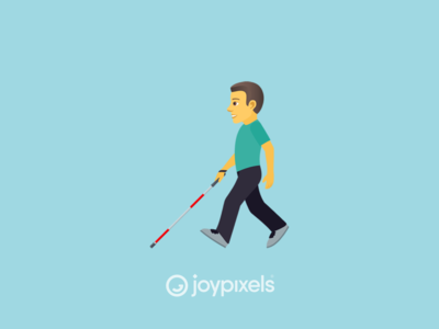 The JoyPixels Man with Probing Cane Emoji - Version 5.0