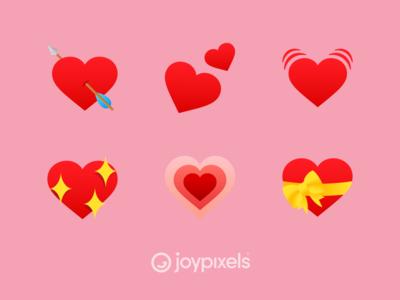 The JoyPixels Hearts Emoji - Version 5.0