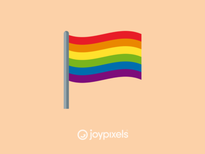The JoyPixels Rainbow Flag Emoji - Version 5.0