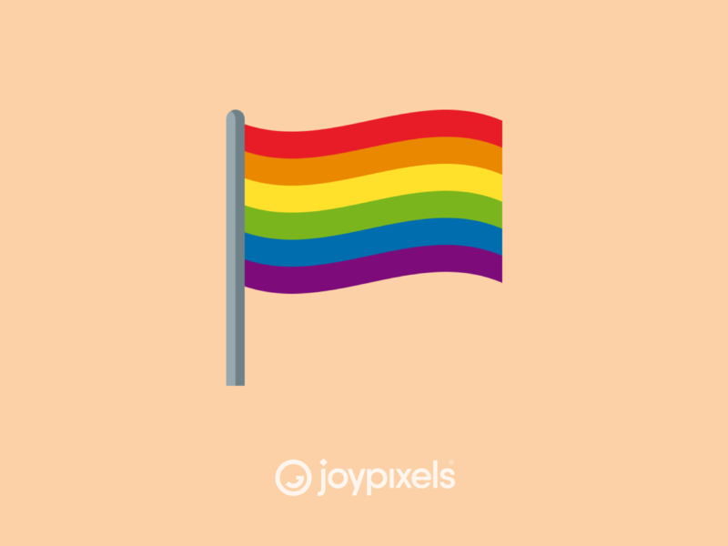 The JoyPixels Rainbow Flag Emoji - Version 5.0 pride month gaypride flagship gay rights gay pride pride flag pride flag rainbow flag rainbow illustration icon emoji