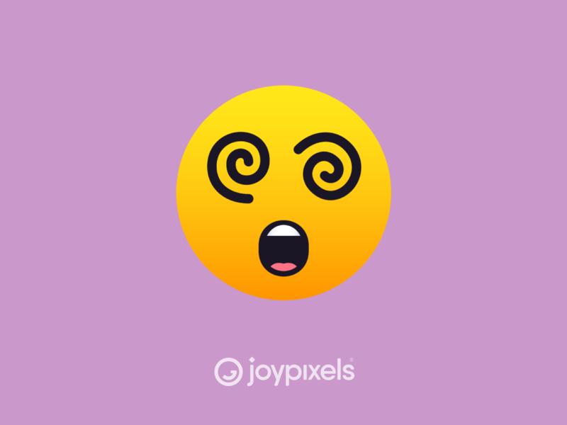 The JoyPixels Dizzy Face Emoji - Version 5.0 dizzy face dizzy fun face graphic glyph emojis smiley face smiley reaction character illustration icon emoji