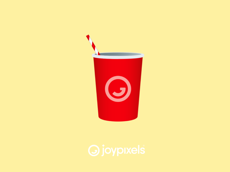 The JoyPixels Cup with Straw Emoji - Version 5.0 beverage packaging beverage drinks drink cups cup with straw cup illustration icon emoji