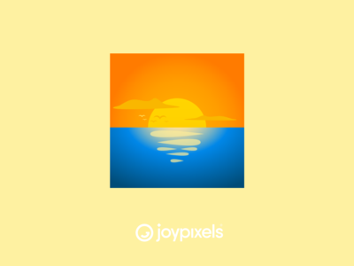 The JoyPixels Sunrise Emoji - Version 5.0
