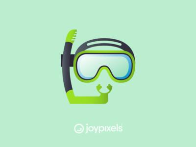 The JoyPixels Diving Mask Emoji - Version 5.0