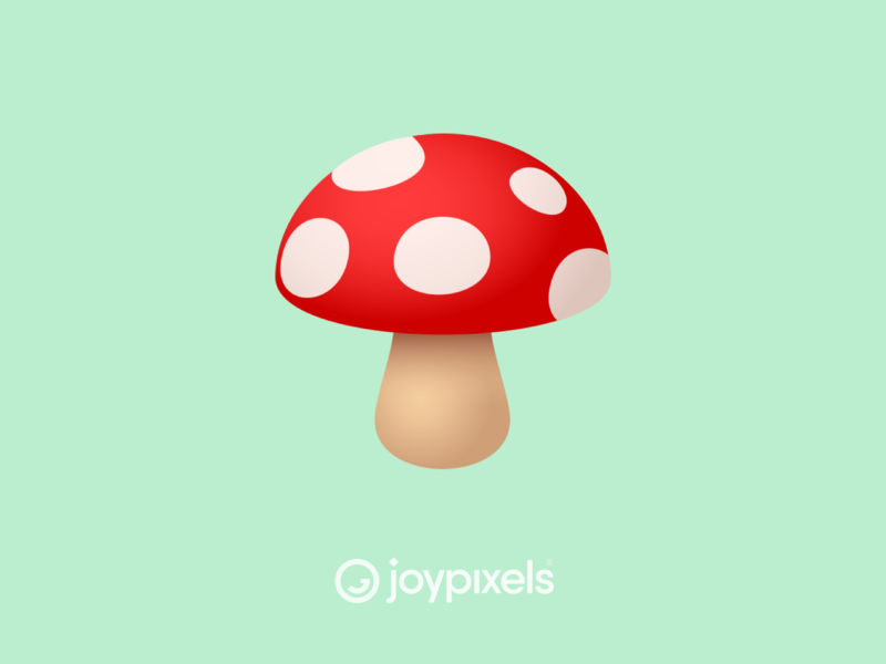 The JoyPixels Mushroom Emoji - Version 5.0 toadstool fungi fungus plant shroom mushrooms mushroom graphic glyph character illustration icon emoji