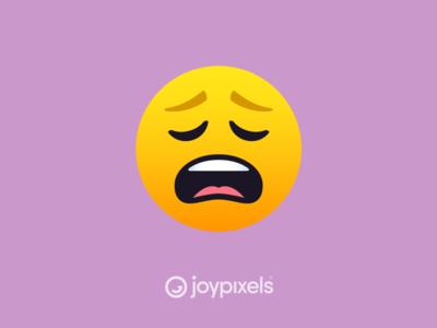 The JoyPixels Weary Face Emoji - Version 5.0