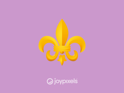 The JoyPixels Fleur de Lis Emoji - Version 5.0