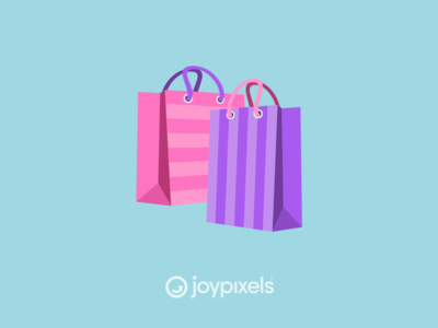 The JoyPixels Shopping Bags Emoji - Version 5.0