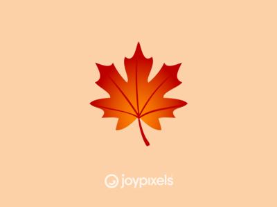 The JoyPixels Maple Leaf Emoji - Version 5.0