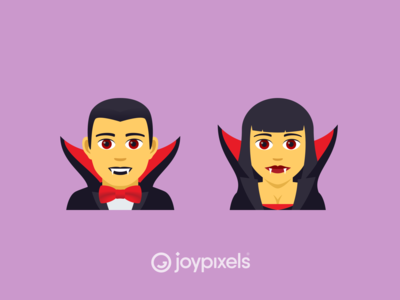 The JoyPixels Vampires Emoji - Version 5.0