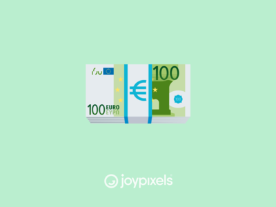The JoyPixels Euro Banknote Emoji - Version 5.0