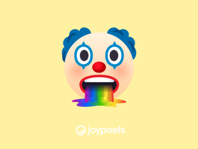 The Joy Pixels Clown Vomiting Rainbows - All Smiles 1.0