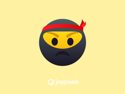 The JoyPixels Ninja Face Emoji - All Smiles 1.0