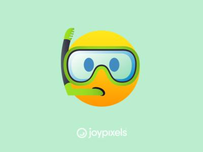 The JoyPixels Snorkel Face Emoji - All Smiles 1.0