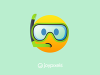 The JoyPixels Snorkel Face Emoji - All Smiles 1.0