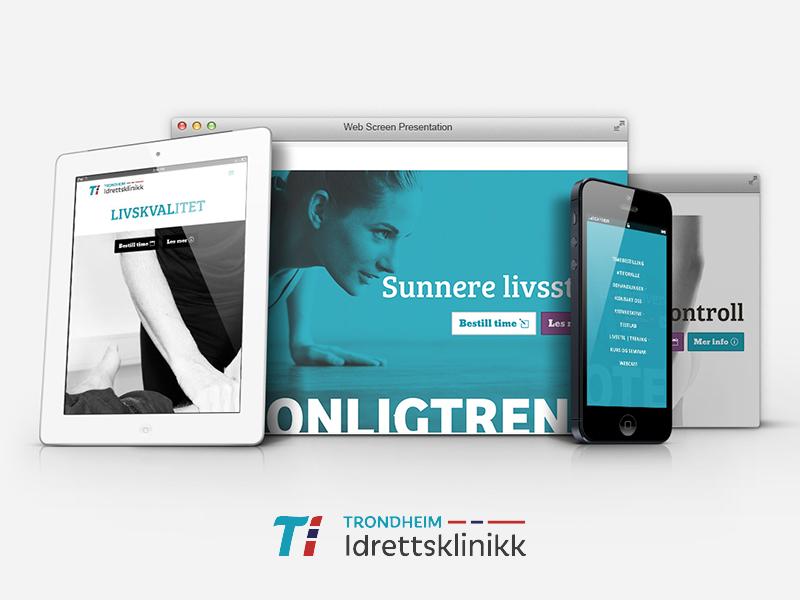 Trondheim Idrettsklinikk #tiforalle responsive ui ux concept webdesign design