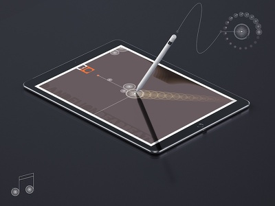 Dandelion Intro Ipad Pro Mockup interface ui ux app design