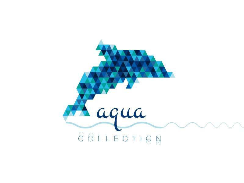 Evryday Collection – #polygon #aqua dolphin design art polyart typo illustration