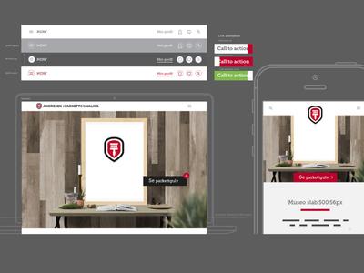 Website wireframe design