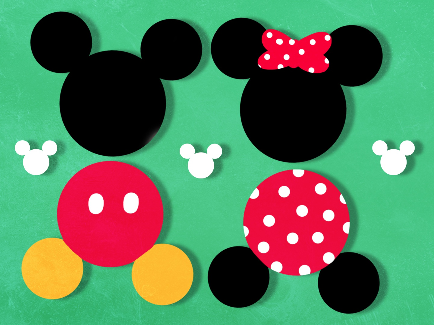 Mickey & Minnie disneyworld cute circle shapes shape designer illustrator product abstract color branding illustration design pattern graphic  design vector graphic disneyland disney mickeymouse